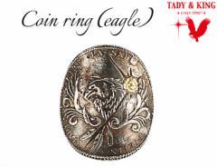 CoinRingEAGLE☆【goros(ゴローズ) 魂継承】【送料無料】TADY&KING【タディ&キング】【シルバーアクセ】