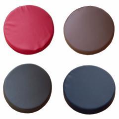 PVCソフトレザー低反発円形クッション「 グレイス 」【IT】約40円形×3.5cm 居酒屋 大量注文 飲食店 業務用 黒 赤 ブラウン