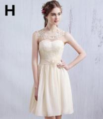 激安 ミニドレス イブニングドレス パーティードレス 大きいサイズ 結婚式ワンピース 二次会 花嫁 ミニ丈 編み上げ