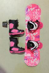 "K2 子供用 スノーボード 3点セット GROM PACK MINITURBO""GIRLS"""