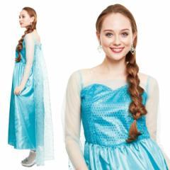 【即納】【送料無料】 エルサ ドレス コスプレ ハロウィン 2点セット ロングドレス 衣装 コスチューム レディース 白雪姫 hw000127