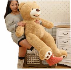 ぬいぐるみ 特大 くま/テディベア 可愛い熊 動物 大きい くまぬいぐるみ/熊縫い包み/クマ抱き枕/お祝い/ふわふわぬいぐるみ (130cm)
