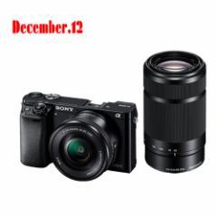 ソニー  デジタル一眼カメラ α6000 ILCE-6000Y(B) ダブルズームレンズキット