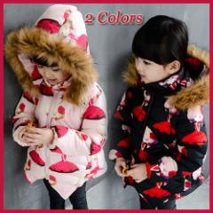 子供 子供服 キッズ コート ダウンコート ジャケット 上着 保温 防寒 女の子 アウター kd312