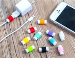 【即日発送】 断線防止保護カバー 4個セット Lightning microUSB Type-C USB iphone ipod ipad 等 ライトニング ケーブル 強化