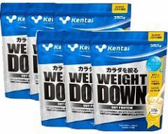 ウエイトダウン ソイプロテイン バナナ風味 1kg x 6袋(超徳用) 【送料無料/シェーカー付/Kentai(ケンタイ)/健康体力研究所】