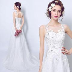ウェディングドレス 花嫁 ドレス Aラインドレス エンパイアドレス プリンセスドレス Aライン V襟 レース ロングドレス結婚式