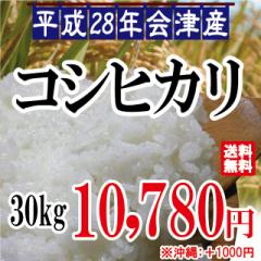平成28年 会津産 コシヒカリ 白米 30kg(10kg×3...