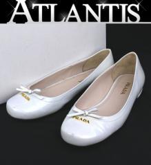プラダ PRADA エナメルパンプス 靴 size37 ホワイト