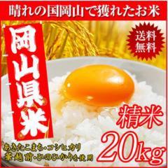 晴れの国岡山で穫れたお米20kg【10kg×2袋】...