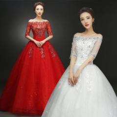 ウェディングドレス フリルドレス 超美ライン写真撮影 ベアトップドレス 結婚式披露宴 カラードレス 赤白 演出 司会 キャスター
