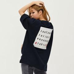 (先払いのみ) 韓国スターファッション <8SECONDS X G-DRAGON> 2017S/S ネイビー パッチ ポイント T-シャツ(3種1択)