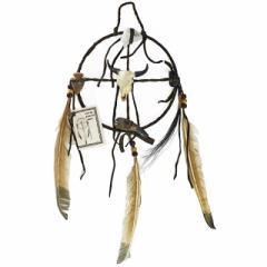 メディスン・ホイール バッファローA ドリームキャッチャー インディアンジュエリー ナバホ族 ハンドメイド ラッピング無料
