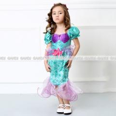子供 人魚姫 ドレス  コスプレ 3~10歳 ハロウィン コスプレ ハロウィン コスプレ  童話 子供 仮装 5010
