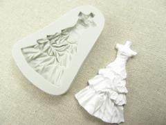 ウエディング ドレス シリコンモールド アロマハイストーン 石粉 樹脂 粘土 UV レジン 石鹸 アクセサリー パーツ