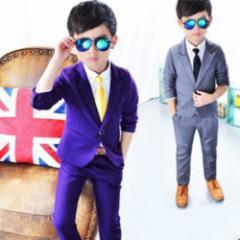 韓国風こどもスーツ 男の子フォーマル スーツ  子供入学式・ピアノ発表会・結婚式スーツ お誕生日プレゼント紳士フォーマルスーツ