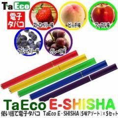 ★「使い捨て電子タバコ・TaEcoE-SHISHA(5味アソート) 5セット」[送料無料]コンパクトで可愛い使い捨てタイプ♪タバコのように吸うだけ