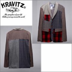 メンズ ジャケット【KRAVITZ】姉妹ブランド【8GUYS】エイトガイズ つぎはぎ/ウールジャケット 限定品