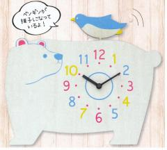 『アニマル振子時計』 掛け時計タイプ しろくま (81532)