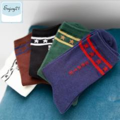 ENJOY21 【MM0170】送料無料 5足セット 靴下 ソックス メンズ スニーカー プチギフト お礼 プレゼント