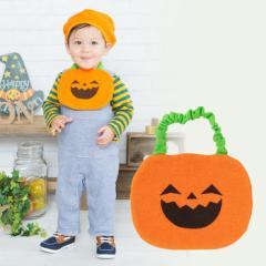 ベビー服 赤ちゃん 服 ベビー スタイ 男の子 女の子 仮装 パーティ  ハロウィンなりきりベビーかぼちゃスタイ