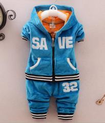 ベビー服  子供服キッズジャージ  男の子 ボーダー 上下セットアップ 女の子  起毛 ジャケットとズボンの2点セット 秋冬パーカー3色