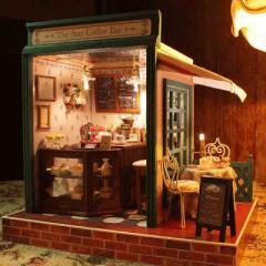 コーヒー屋 ドールハウス DIY 手作りキット セット ミニチュア 組立式