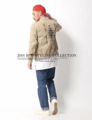 ミリタリーとアメカジを融合したジャケットコーデ◆MA-1 メンズ アウター Heritage Stone  【コーデ】