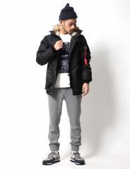 冬本番大活躍。人気のミリタリージャケット◆N-3B メンズ  フライト シンサレート ボア ファー 防寒 中綿 grn  【コーデ】
