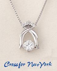クロスフォーニューヨーク 「Iris」 NYP-578 揺れるダイヤ シルバー925 ネックレス 送料無料