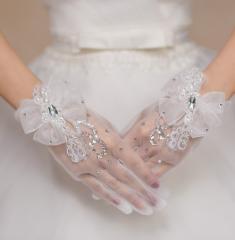 ウェディング グローブ 花嫁 披露宴 二次会 手作リ プリンセスドレス 素敵 手袋 グローブ glove 飾り物 ブライダル用 02