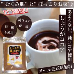 《500円ワンコイン》【メール便送料無料】TVで話題♪しょうが純ココア(無糖)100g★甘くないしょうがココア