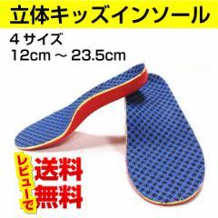 ジュニア インソール キッズ 子供 中敷き 立体 大きめ靴 長靴 サイズ調整 送料無料