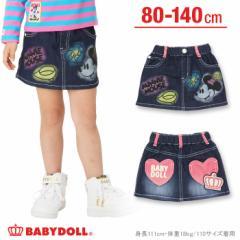 NEW ディズニー スプレー柄デニムスカート-ベビーサイズ キッズ ベビードール 子供服/DISNEY-9450K