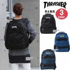THRASHER スラッシャー バッグ リュック THRCD-501 ダブルベルト サイドメッシュポケット付き ag-837300