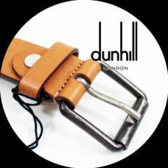 『ついでに買ってお得』 ダンヒル DUNHILL メンズベルト ブラウン HPS270T