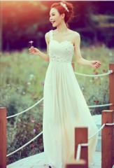 Aライン/ウェディングドレス/ロングドレス/大きいサイズ/結婚式/二次会/パーティー/花嫁/姫系トレス/誕生日/シャンパン色姉妹用
