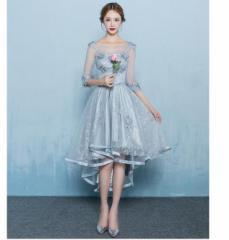 新作/ウェディングドレス/ロングドレス/イブニングドレス/大きいサイズ/ 結婚式/二次会/パーティード/花嫁/忘年会
