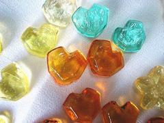 ぷち、ハートダイヤキャンディ/は、わずか、200粒から作っちゃいます、アナログ−超年代ものの機器を利用してます
