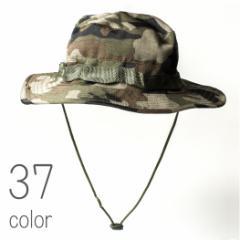 サファリハット メンズ レディース 帽子 ハット つば広 キャップ テンガロンハット ジャングルハット 迷彩 カモ カモフラ 2wayハット