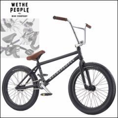 """【2017モデル】BMX 完成車 WETHEPEOPLE """"ZODIAC"""" 20インチ 20.75 Matt Black ストリート パーク 自転車"""
