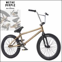 """【2017モデル】BMX 完成車 WETHEPEOPLE """"ENVY"""" 20インチ 20.6 Gold Nickel ストリート パーク 自転車"""