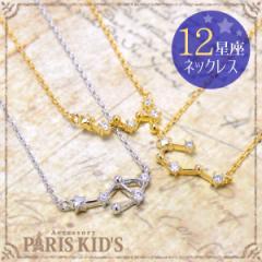 【送料無料】Premium paris キュービック ジルコニア 12星座 ネックレス レディース 女性 華奢 ゴールド シルバー チェーン フォーマル
