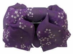 浴衣初心者でも楽々 一人で簡単に結べる 浴衣帯 軽装帯 作り帯 帯 簡単 蝶帯 赤紫地 小桜 柄no2930