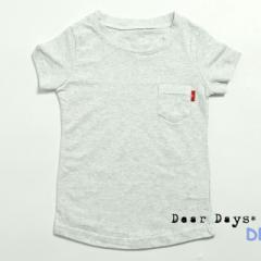 【即納】無地 シンプル T-シャツ ライトグレー 半袖 韓国子供服 女の子 男の子 ユニセックス