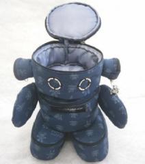 「NANONANO−ポーチロボット1」 電子部品を使ったロボットアクセサリー・携帯ストラップ・オリジナルポーチ
