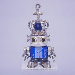 「NANONANO−M092KINGblue」 電子部品を使ったロボットアクセサリー・携帯ストラップ