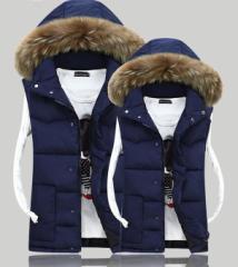 2枚送料無料 プリントカップルお揃いベスト 男女兼用コート アウター ペアルック綿ジャケット防寒防風 軽量フード付け