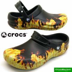 [送料無料]クロックス crocs bistro graphic clog 204044 001 Black ビストロ グラフィック クロッグ ワークサンダル メンズ
