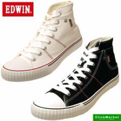 [送料無料]エドウィン EDWIN ED-701 キャンバス スニーカー ハイカット 0701 メンズ
